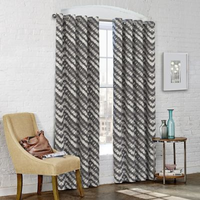 SolarShield® Kuniko 63-Inch Grommet Top Room-Darkening Window Curtain Panel in Grey
