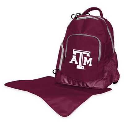 Lil Fan Texas A&M Diaper Backpack