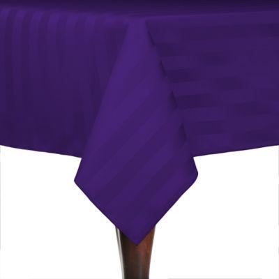Purple Poly-Stripe Tablecloth