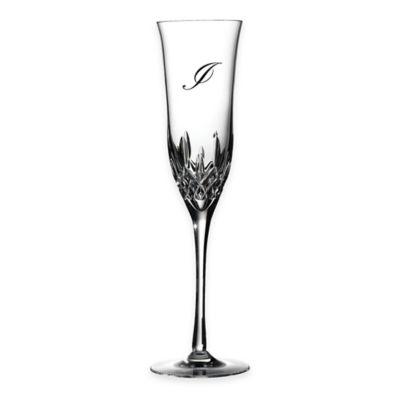 "Waterford® Lismore Essence Monogram Letter ""I"" Champagne Flutes (Set of 2)"