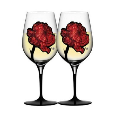 Kosta Boda Tattoo Wine Glasses (Set of 2)