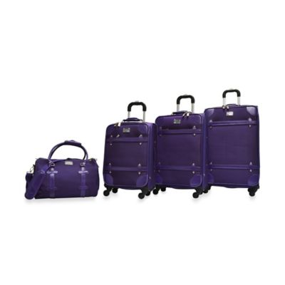 Adrienne Vittadini Metro 2-Piece Luggage Set in Taupe