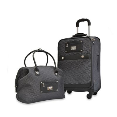 Adrienne Vittadini Quilted 2-Piece Luggage Set in Grey