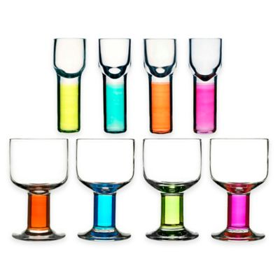 Sagaform® Club Wine and Shot Glasses in Assorted Colors (Set of 8)