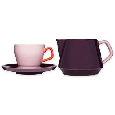 Sagaform® POP 3-Piece Cup, Saucer and Milk Jug Set in Assorted Colors