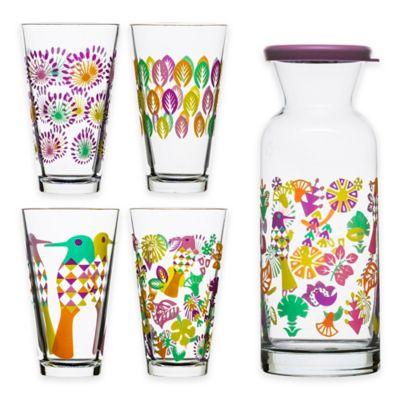 Sagaform® Fantasy 5-Piece All-Purpose Drinking Glass and Carafe Set