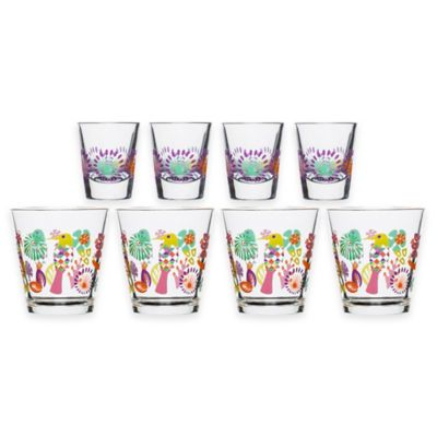 Sagaform® Fantasy Juice and Shot Glasses (Set of 8)