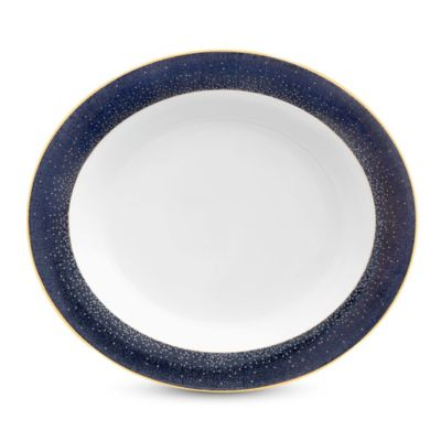 Monique Lhuillier Waterford® Stardust Night Oval Vegetable Bowl