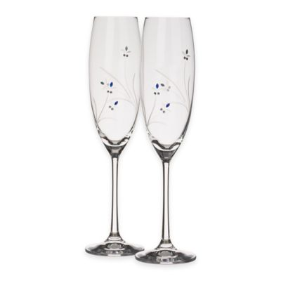 Blue Crystal Glasses Set