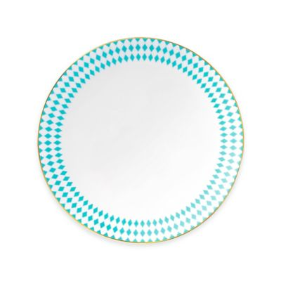 B by Brandie™ Grande Hutton Dinner Plate in Turquoise/Gold