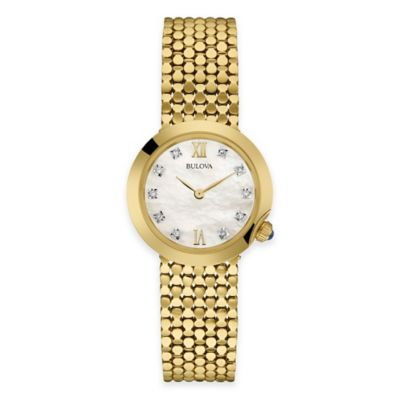 Bulova Maiden Lane Ladies' Bracelet Watch in Goldtone Stainless Steel