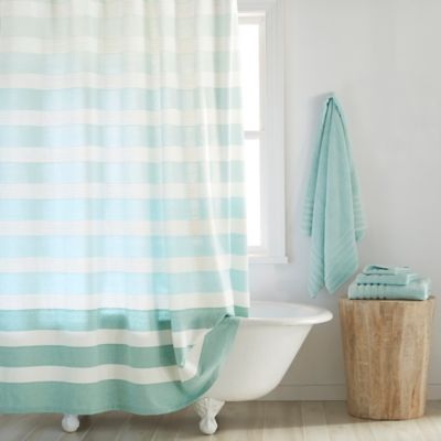 Blue DKNY Shower Curtain