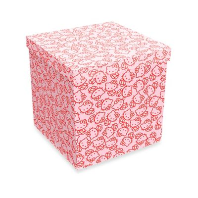 Hello Kitty Collage Storage Ottoman in Pink