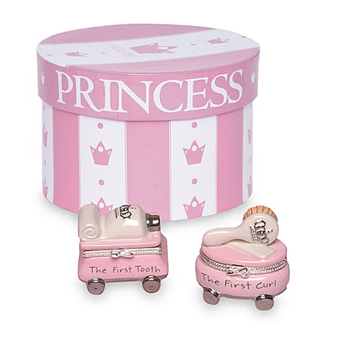 Mud Pie® First Tooth/Curl of the Princess Treasure Box