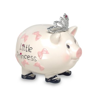 Mud Pie® Piggy Bank in Princess Tiara
