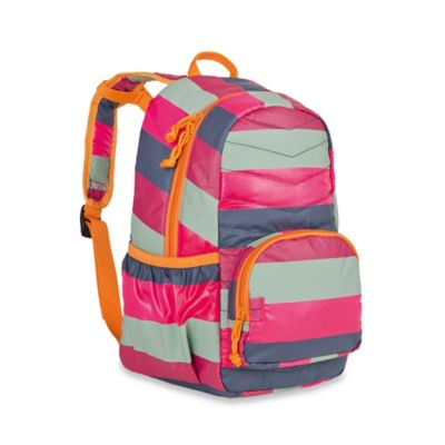 Lassig 4Kids Mini Quilted Striped Backpack in Magenta