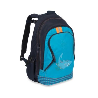 Lassig 4Kids Shark Ocean Mini Backpack Big in Navy