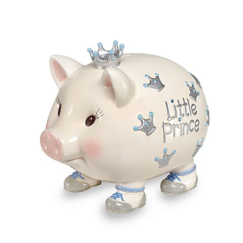 Mud Pie® Giant Little Prince Piggy Bank