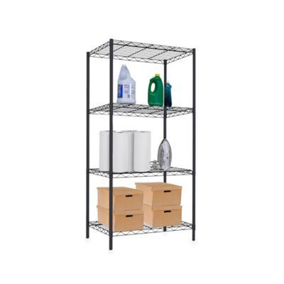 Home Basics® 4-Tier Wire Shelf in Black