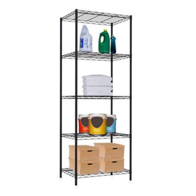 Home Basics® 5-Tier Wire Shelf in Black