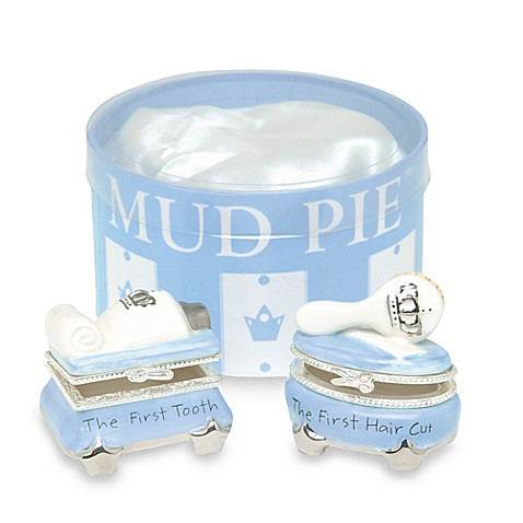 Mud Pie® Prince First Tooth/First Curl Alphabet Blocks