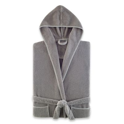 Kassatex Abeille Hooded Bathrobe in Ecru