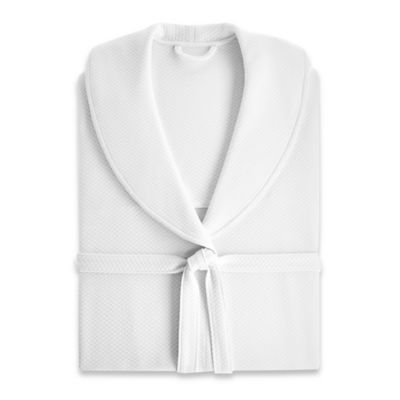 Kassatex Luxury Diamond Small/Medium Robe in Ivory