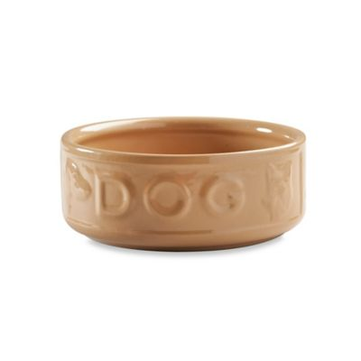 """Lettered 5-Inch x 2.2-Inch """"Dog"""" Bowl in Tan"""