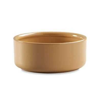 Stoneware 6-Inch x 2.2-Inch Pet Bowl in Tan