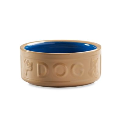 "Mason Cash® Lettered 5-Inch x 2.2-Inch ""Dog"" Bowl in Tan/Blue"
