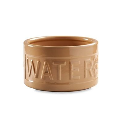 "Mason Cash® Lettered ""Water"" Pet Bowl in Tan"