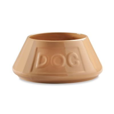 "Mason Cash® No-Tip Lettered ""Dog"" Pet Bowl in Tan"