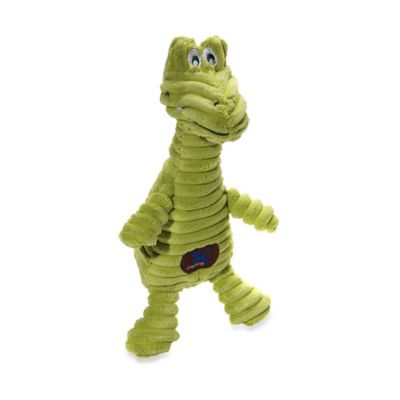Charming Pet® Squeaking Squiggles™ Gator Dog Toy in Green