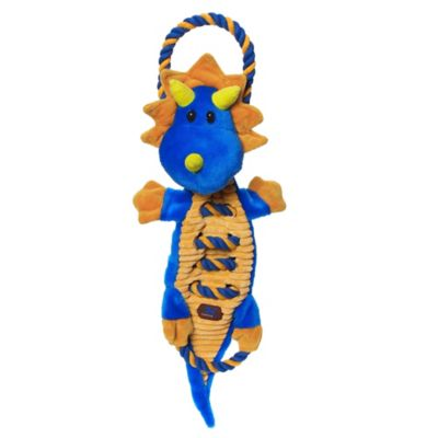 Charming Pet® Ropes-A-Go-Go™ Dragon Dog Toy in Blue/Orange