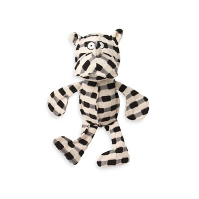 CheckRageous Pipa the Rhino Pet Toy in Black/Cream