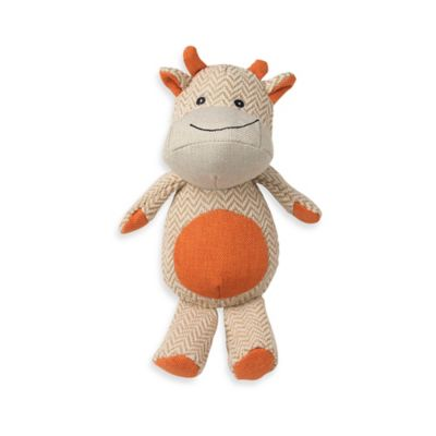 ZooRageous Brady the Bull Pet Toy in Orange