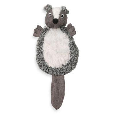 CritterRageous Stewie the Skunk Pet Toy in Grey
