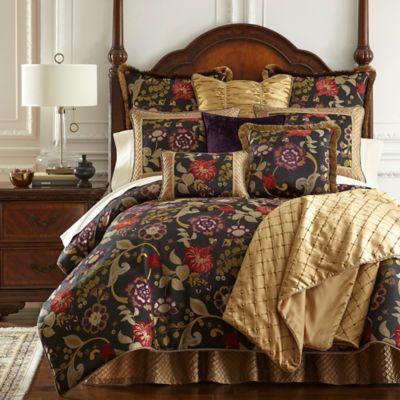 Austin Horn Classics Escapade Reversible King Comforter Set in Black