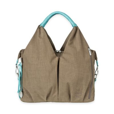 Lassig Green Label Neckline Diaper Bag in Taupe