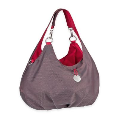 Lassig Gold Label Shoulder Diaper Bag in Metallic Red