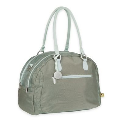 Lassig Gold Label Bowler Diaper Bag in Metallic Frost