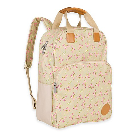 lassig vintage diaper bag backpack in rosebud fairytales print buybuy baby. Black Bedroom Furniture Sets. Home Design Ideas