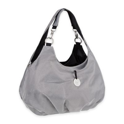 Lassig Gold Label Shoulder Diaper Bag in Metallic Silver
