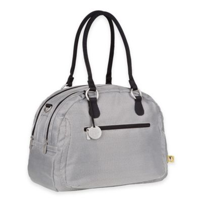 Lassig Gold Label Bowler Diaper Bag in Metallic Silver