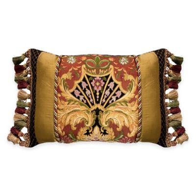 Austin Horn Classics Ashley Pieced Boudoir Throw Pillow in Coral