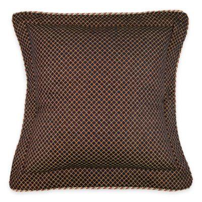 Austin Horn Classics Ashley Flanged European Pillow Sham in Brown