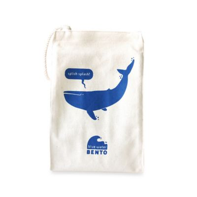 ECOlunchbox® Organic Cotton Blue Whale Water Bento Lunch Bag
