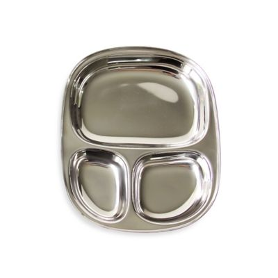 ECOlunchbox® Stainless Steel Divided 20 oz. Plate