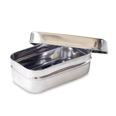 ECOlunchbox® Stainless Steel Rectangular Snack Container