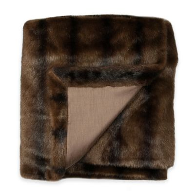 Austin Horn Classics Ashley Faux Fur Throw in Brown